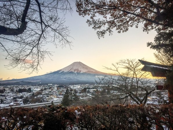 I had a clear enough view of Mt. Fuji from the viewing deck I stopped at. After taking a couple of shots or so, I stood still and admired the scenery some more. I tried to compose myself too because my phone battery died pretty much after I took this shot^^;;